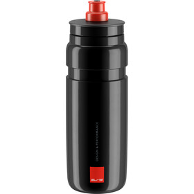 Elite Fly Drinking Bottle 750ml, black/red logo